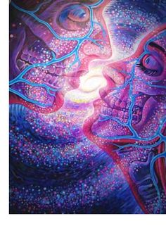 Cosmic Kiss - Alex Grey how I feel when we touch lips :)