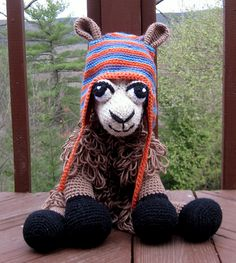 Crocheted Llama from a pattern by Paola Navarro