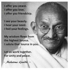 Ghandi was creative in the way he protested, and in the way he spoke to people.