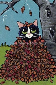 Fall Leaf Hideout by Lisa Marie Robinson