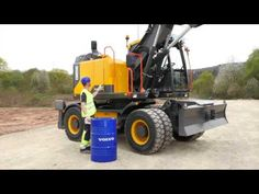 Feature clip about the operator environment of the Volvo wheeled excavator. Volvo, Tractors, Vehicles, Youtube, Rolling Stock, Vehicle, Tools