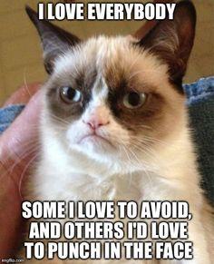 Love is a matter of perspective. #GrumpyCat #Meme