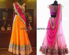 Net Lehenga and Blouse Designs | Saree Blouse Patterns