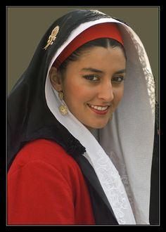 Sardinian girl.  Sardigna (capital Cagliari) is the second largest island in the Mediterranean Sea (after Sicily and before Cyprus) and an autonomous region of Italy.