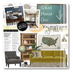 """""""Schoolhouse Chic with 4 Men 1 Lady"""" by yoa316 ❤ liked on Polyvore featuring interior, interiors, interior design, home, home decor, interior decorating, West Elm, Crate and Barrel, Galbraith & Paul and ProjectDecorate"""