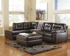 Ashley Furniture Alliston Sectional in Chocolate