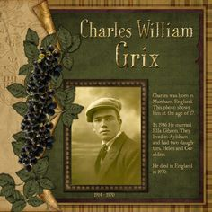 Charles William Grix - Heritage Family - Gallery - Scrap Girls Digital Scrapbooking Forum