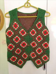 Crochet Girls, Love Crochet, Crochet Granny, Crochet Coat, Crochet Blouse, Hairpin Lace Crochet, Knit Vest, Jacket Pattern, Needlework