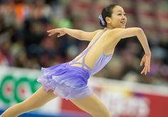 Mao Asada of Japan skates her short program at Skate America 2013 in Detroit, Michigan, October 19, 2013.