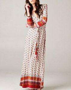 CHELSEA VERDE'S SHIFTING SEASONS Bohemian Marrakesh Red Wrap Maxi Dress XL-2X-3X #pleasecontact #Maxi #Casual