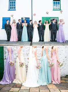 Brautjungfernkleider von Kelsey Rose  Brautjungfern  Trauzeugen  Pinterest  Braut