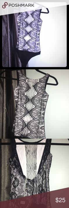 Lace bodysuit NWT* perfect under a skirt or pants. Too small for me 😞 UK size 6 but really US XS ASOS Tops