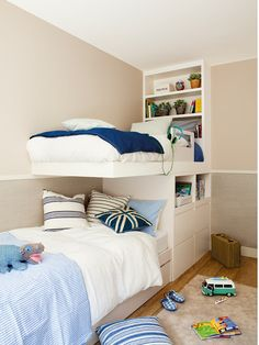 Kid's Bedroom Decor Idea – Race Cars and Racing Girl Room, Girls Bedroom, Childrens Bedroom Decor, Casa Clean, Kids Bunk Beds, Shared Bedrooms, Bedroom Furniture, Interior Design, Home Decor