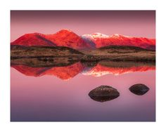 Vemsteroo posted a photo:  Yesterday morning I drove out to Rannoch Moor against the advice of the weather forecast and I was treated to a few minutes of glorious, if intense, red light on the mountains.  This is a conflicting image for me. Yes, I've played with the contrast of the original RAW file and yes, the colours are somewhat overwhelming, but to me, this is what I witnessed. When I posted this to Twitter last night, I felt apprehensive as there are a few cliques of mostly male…