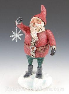 Snowflake Dreams | Santa Claus Figurines and Hand Carved Wooden Santas