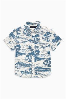 Sweatwater Mens Casual Two Piece Short Pants Shirt Hawaiian Button Down Shirts