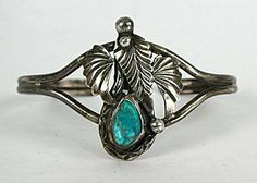 Native American Indian Navajo Sterling Silver  vintage turquoise Bracelet