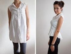 Camisa de gran tamaño a Peplum Blusa