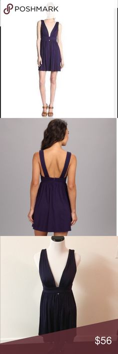 FINAL ❤️️ Trina Turk  jersey dress Gorgeous Trina Turk Jersey dress. It's a rich deep purple, very soft material, deep plunging neckline with a keyhole cutout at the bust line. The back is just as awesome! This dress makes a statement, perfect for wedding season, or any function you need to be fabulous for. Brand new with tags. This dress seems to run a bit small. Tag says small, but listed as XS. Trina Turk Dresses Mini