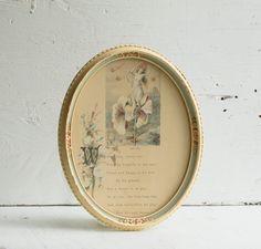 Vintage Victorian 1877 Japan Lily Flower Fairy Poem