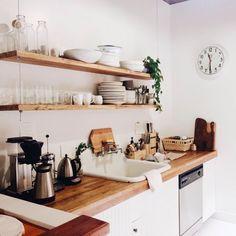Kitchen / White / Wood