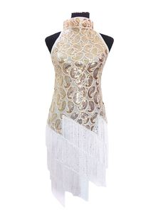 KAYAMIYA Women's Vintage 1920S Sequin Paisley Pattern Tassel Flapper Party Dress ** Discover this special product, click the image : Dresses for Christmas