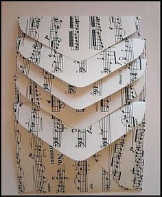 creative use of old sheet music