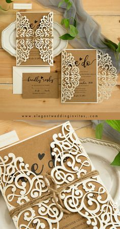 Rustic chic wooden laser cut wedding invitations #EWI #weddinginvitations Laser Cut Wedding Invitations, Response Cards, Rustic Chic, Budget Wedding, Wedding Bells, How To Introduce Yourself, Rustic Wedding, Daughter, Place Card Holders