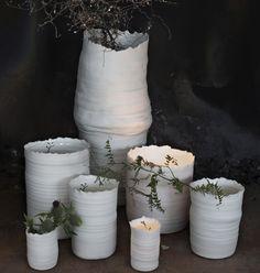 #KajsaCramer Vase Bloom strahlend weißes Porzellan Handarbeit kaufen  - Gefunden auf #KONTOR1710