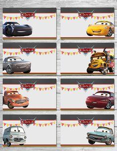 Ideas Disney Cars Birthday Party Food Ideas Etsy For 2019 Disney Cars Party, Disney Cars Birthday, Cars Birthday Parties, Happy Birthday, Birthday Greetings, Boy Birthday, Car Food, Food Tent, Film Cars