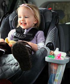 For Sam for Michigan Look at this #zulilyfind! Gray Car Seat Organizer #zulilyfinds