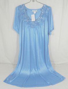 Lati Fashion Light Green M Womens Cap Sleeve Nightgown 100