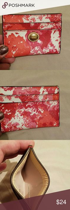 Card holder Coach Just in time for spring used twice coach Other