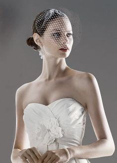 I'm thinking if I do a veil, it will look like this - style V942 @Sarah Cairns