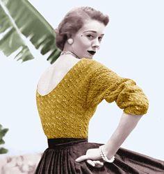 Vintage Vogue Knitting Pattern Sexy Low Back von 2ndlookvintage