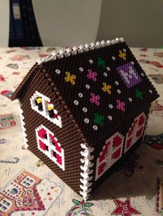 Hama beads ginger bread house
