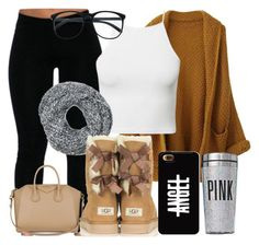 """""""405."""" by tyra-bryant ❤ liked on Polyvore featuring Estradeur, UGG Australia, Victoria's Secret PINK and Givenchy"""