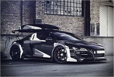 We recently featured the spectacular camouflage Lamborghini owened by Swedish professional freeskier and alpine ski racer Jon Olsson. Besides skiing Jon also has a huge interest for cars, his latest toy is this stunning Audi Razor GTR conversion. Lamborghini, Ferrari, Red Audi, Black Audi, Audi Sport, Sport Cars, Rolls Royce, Skate, Porsche