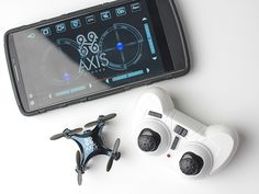 Take to the skies with this $75 Axis VIDIUS FPV-Camera Drone. This wee little drone (doesn't need FAA registration...) lets you see what it sees through its live streaming video camera, which can be transmitted to your Apple or Android device via WiFi.