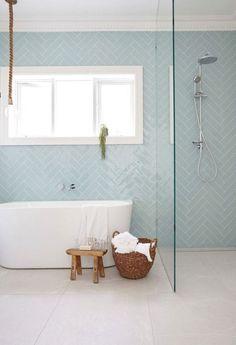 Childrens Bathroom, Bathroom Kids, Ikea Bathroom, Family Bathroom, Mosaic Bathroom, Bathroom Flooring, Modern Bathroom Tile, Minimalist Bathroom, Pastel Bathroom