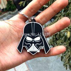 Star Wars Darth Vader Black Metal & Silver Car/House Keychain