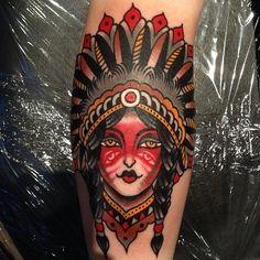 Luke Jinks as featured on Swallows & Daggers. www.swallowsndaggers.net #tattoo #tattoos #nativeamerican