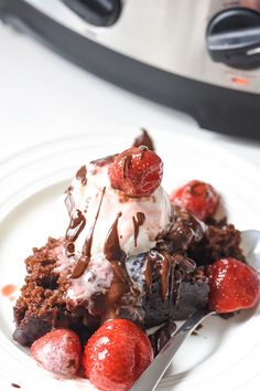 Wow your holiday guests with this Crock-Pot:registered: Slow Cooker Easy Chocolate Cake Recipe! Plus slow cooker ganache and slow cookie strawberries.