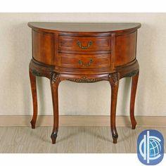 International Caravan Half Moon 2-drawer Wall Table | Overstock.com Shopping - Great Deals on International Caravan Coffee, Sofa & End Tables
