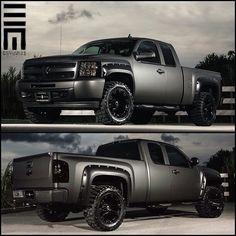 Lifted chevy silverado 4x4 truck