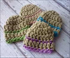 I'll be making these, too, and donating in Brandon's name.  Mamma That Makes: Lincoln Beanie - Free crochet pattern