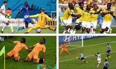 #Brasil2014   ¡Resumen de la jornada! Los triunfos de Costa Rica y Colombia