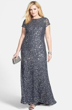 Adrianna Papell Embellished Scoop Back Gown & Accessories (Plus Size)  available at #Nordstrom