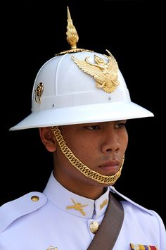 One of the royal guards that are at the Grand Palace, Bangkok, Thailand Vietnam, Military Guard, Military Uniforms, Laos, One Night In Bangkok, Burma, Thailand Adventure, Royal Guard, Luxury Services