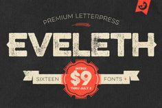 Check out Eveleth Font Family - $9 Intro Sale! by Yellow Design Studio on Creative Market